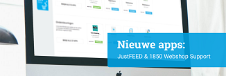 App Flash: 1850 Webshop Support & JustFEED